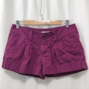 Express plum cotton shorts 6